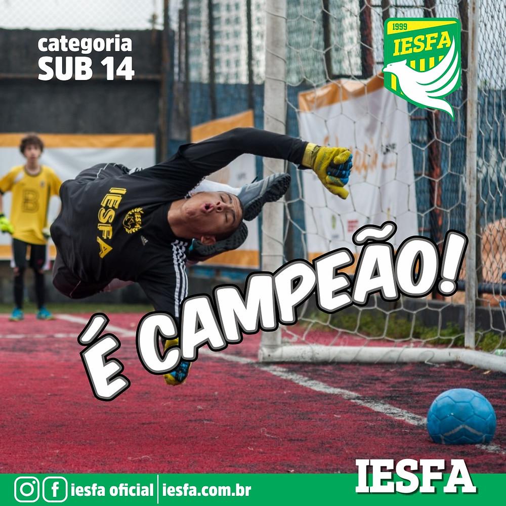IESFA sub 14 campeão Play FC