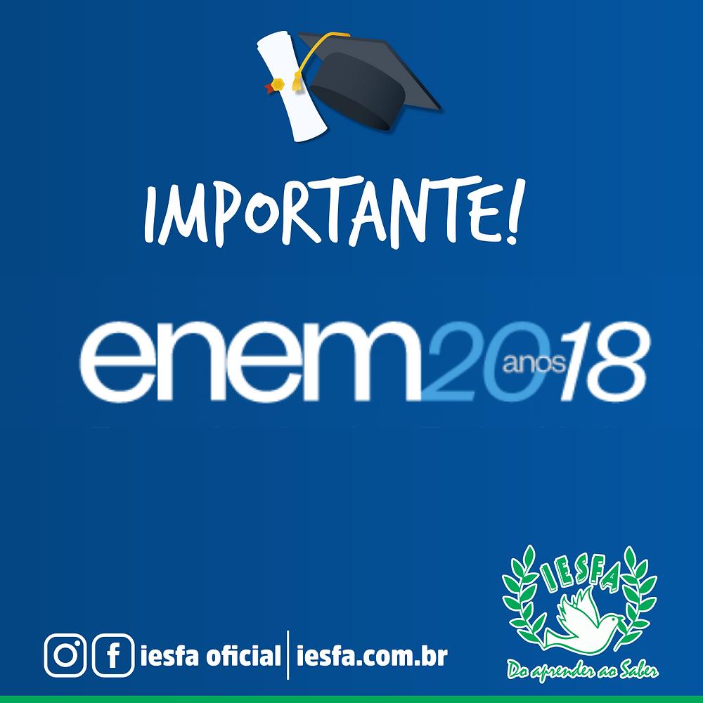 Cartão de confirmação - ENEM 2018