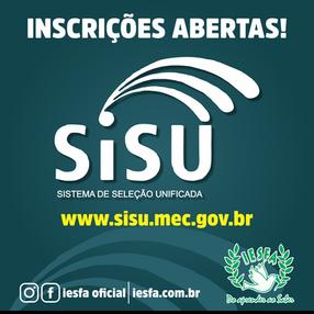 SISU 2019 - Inscrições abertas!