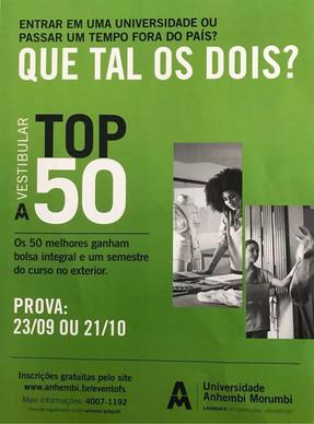Vestibular TOP 50  Universidade Anhembi Morumbi