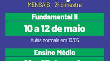 Provas mensais - 2º bimestre (F2 e médio)