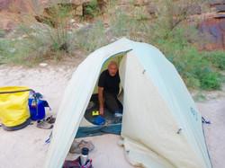 Matt in his tent