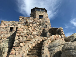 Stone lookout tower