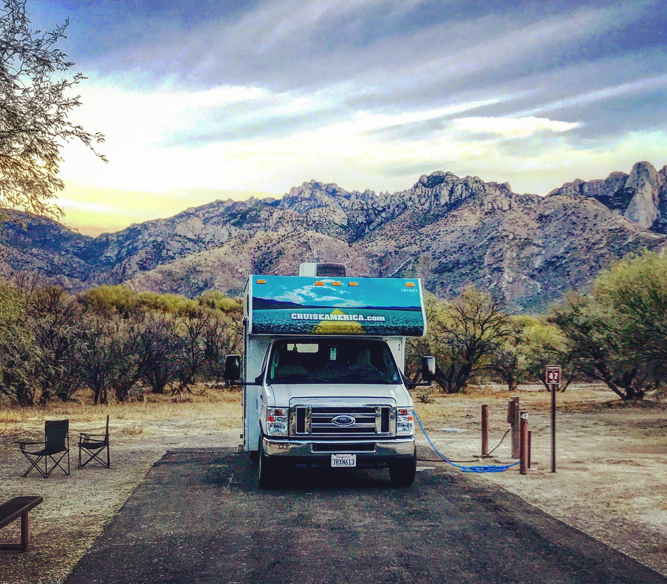 Our RV at Catalina State Park