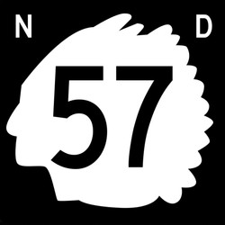 North Dakota state highway sign