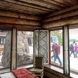 Our room at Old Faithful Inn