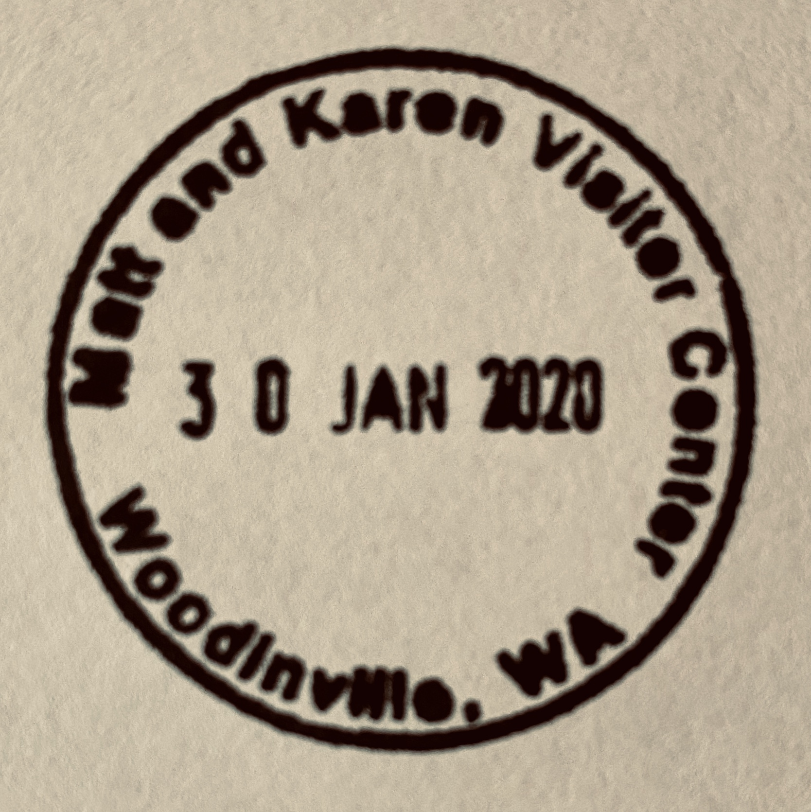 Our visitor center stamp