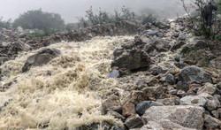Raging creek on summit day