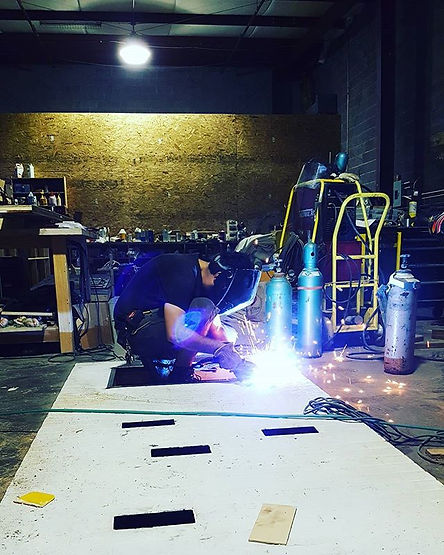 welding, fabrication, escape room props, props, high end exp