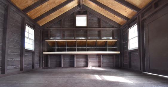 Inside Floating Chicken Coop