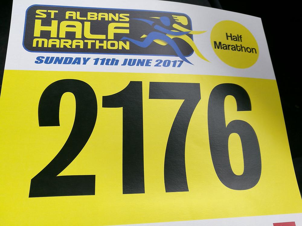 2017 St Albans Half Marathon number
