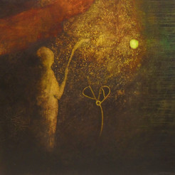 Abraham och Mose, 67 x 67cm.