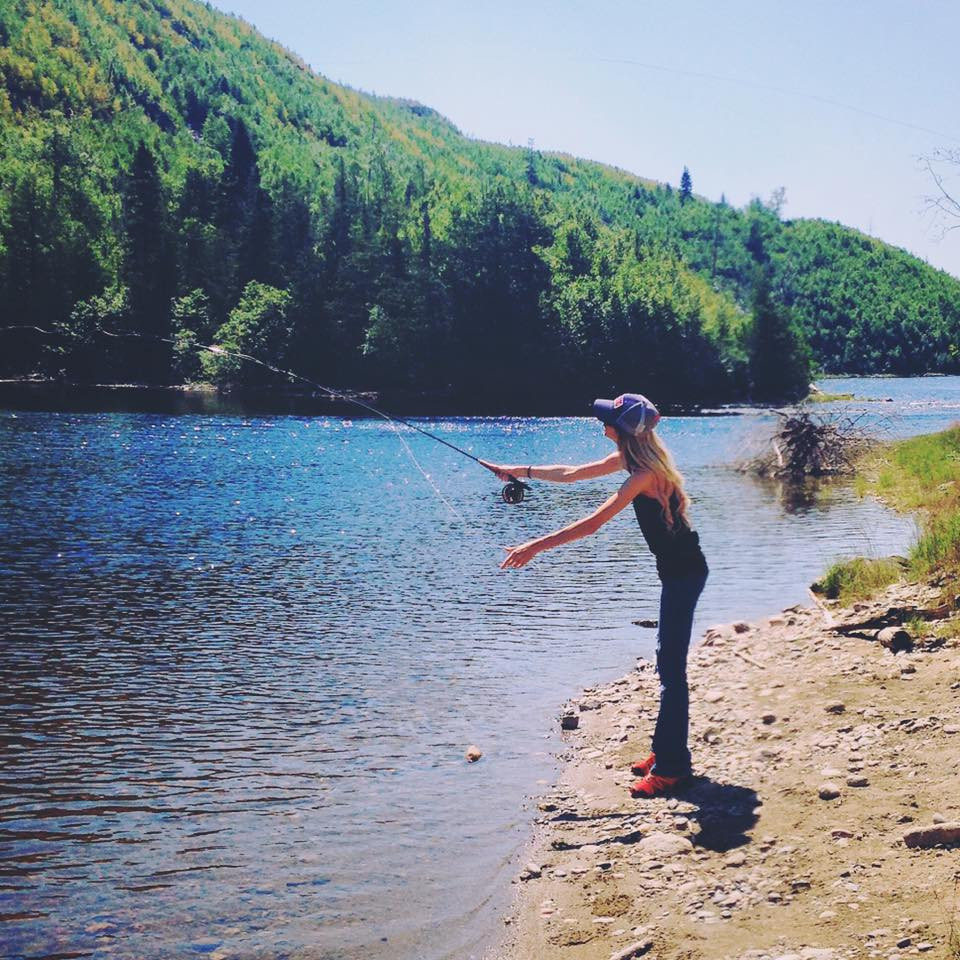 Fly fishing at Milage 18. (Summer 2016)