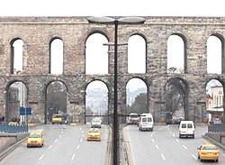 Valens Aqueduct in Istanbul, Turkey