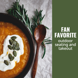 Fall social post template for food and beverage, restaurants, bakeries, and cafes