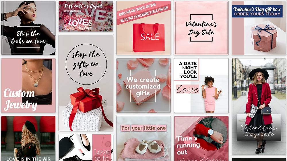 Valentine's Day specials and sales social media post templates