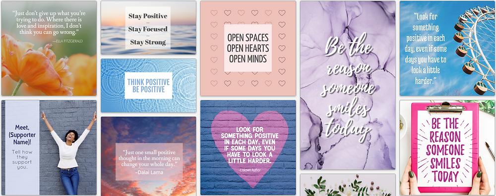 Spread positivity social media post template collection