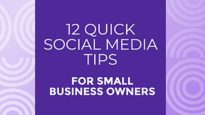 12 quick social media tips for small bus