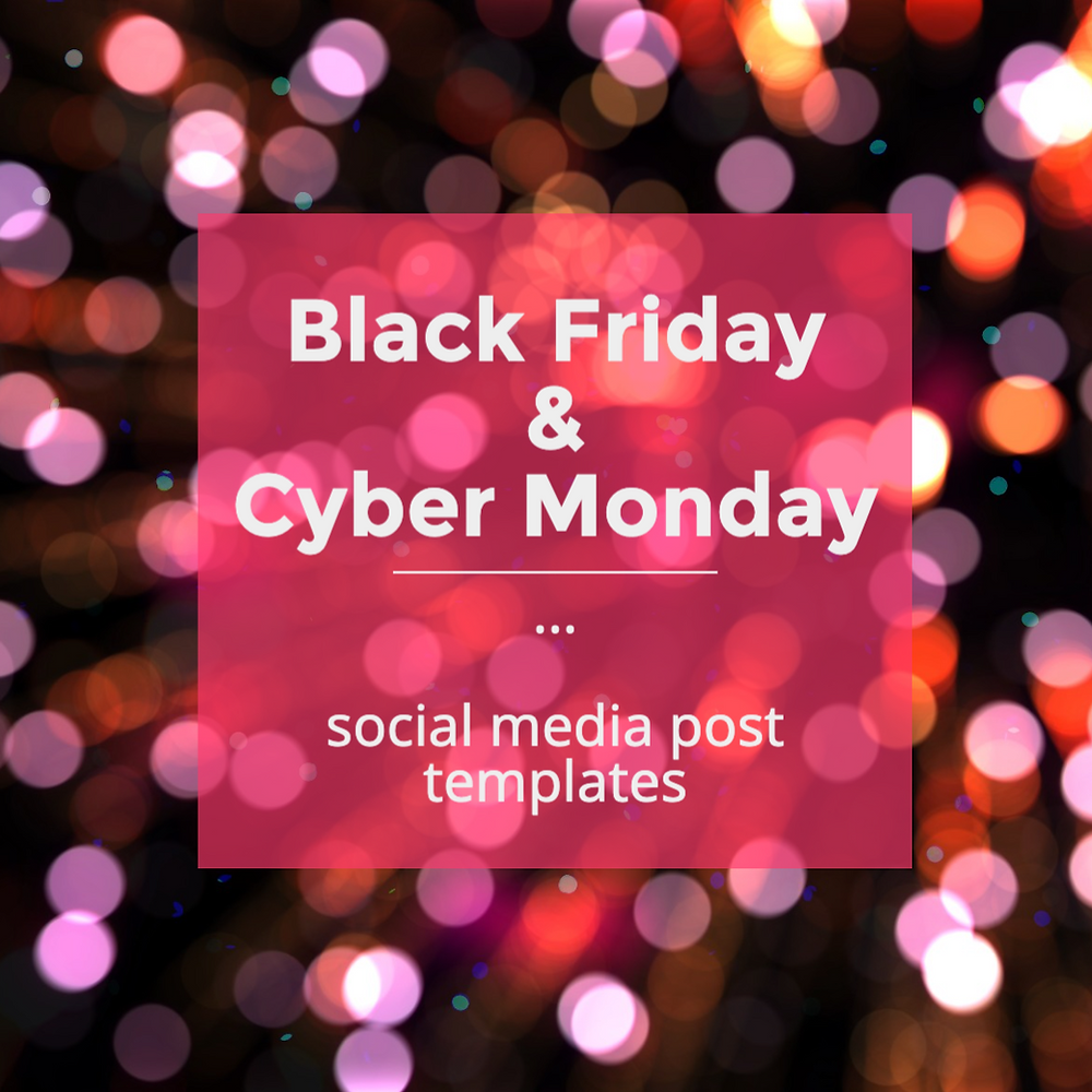 Black Friday social media post template for Instagram with black glitter background