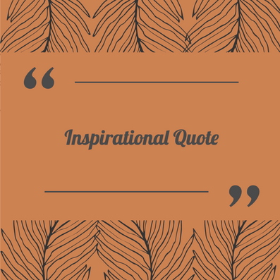 Orange inspirational quote template for Fall and Thanksgiving