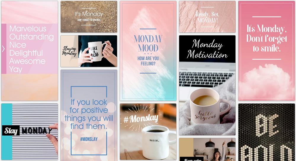 Motivational Mondays Monday Motivation social media post template collection