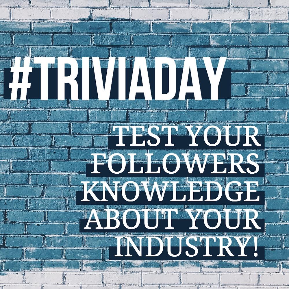 National Trivia Day social media post template