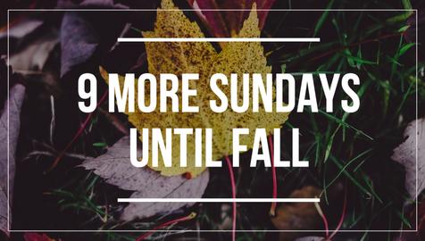 Fall countdown social media post