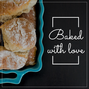 Fall social media post template with fresh baked Thanksgiving rolls on dark background