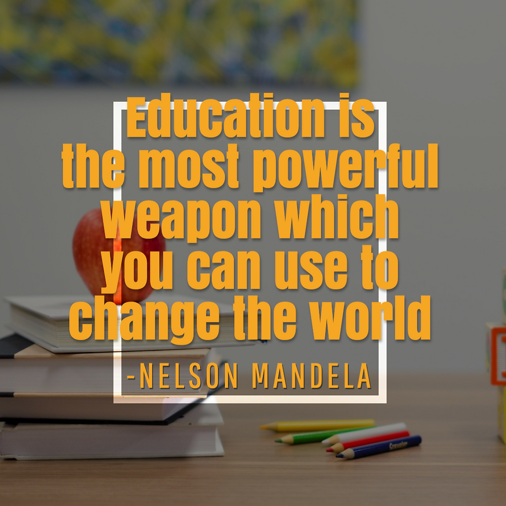 International Mother Language Day social media post template with Nelson Mandela quote