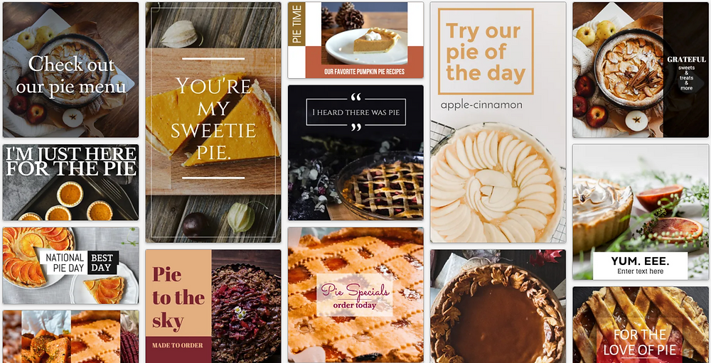All about pie social media post template collection