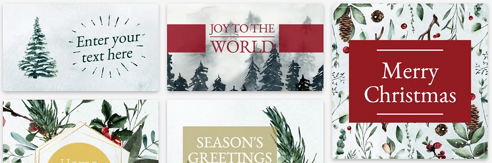 Christmas and winter season's greetings social media post templates for Instagram and Facebook