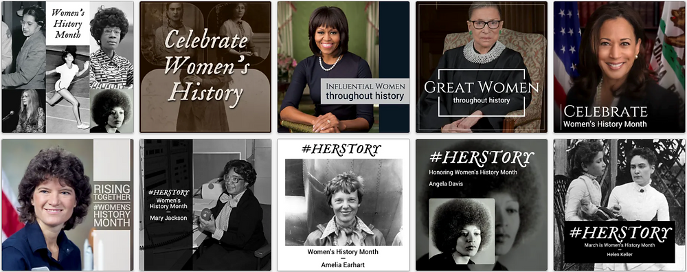 Women's History Month social media template collection
