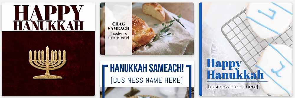 Hanukkah social media post templates