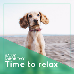Relax on Labor Day post for social media