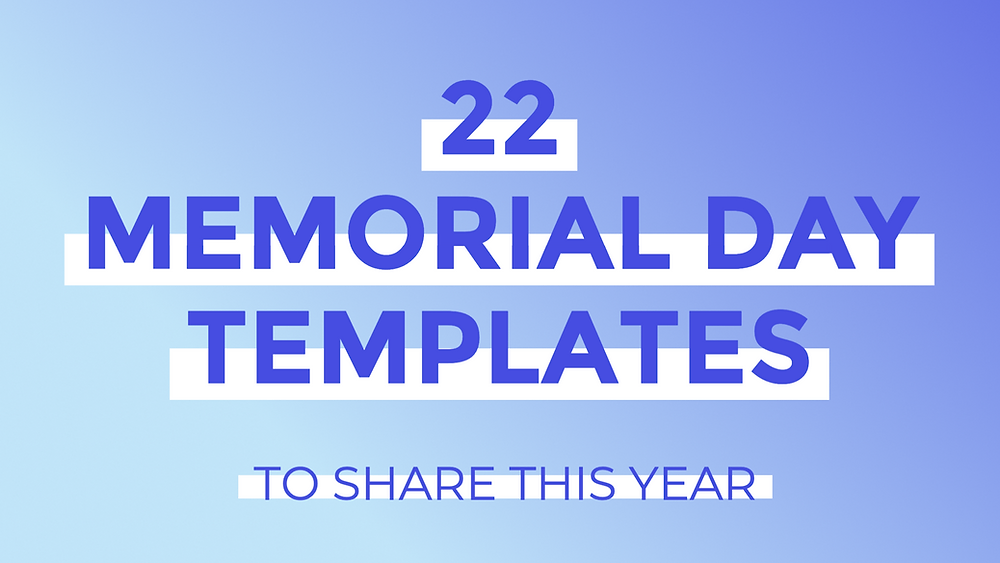 22 Memorial Day social media post templates to share this year