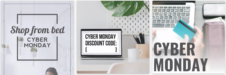 Cyber Monday social media post templates