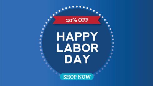 Labor Day Sale Happy Labor Day template