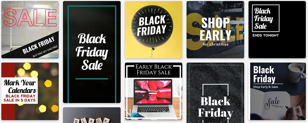 Black Friday social media post templates for small businesses