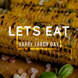 Grilled corn Labor Day social media post template