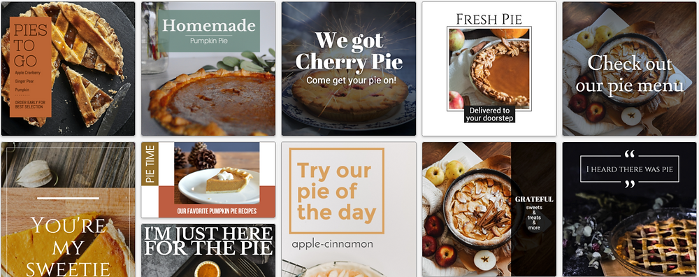 All about pie for pi day social media post template collection