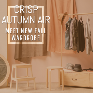 Crisp autumn air fall wardrobe social post template for retail and ecommerce