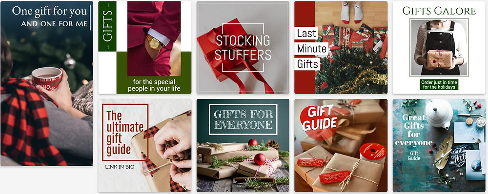 Holiday gift guide social media templates