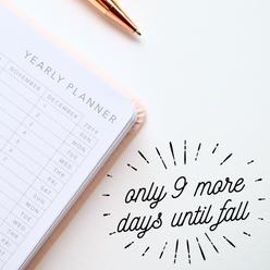 Calendar planner social media post template for Fall / Autumn