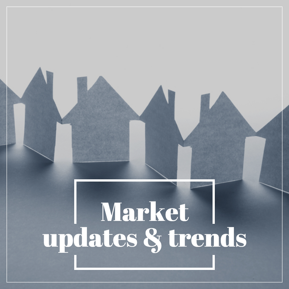 Market updates and trend report social media post for real estate and home professionals