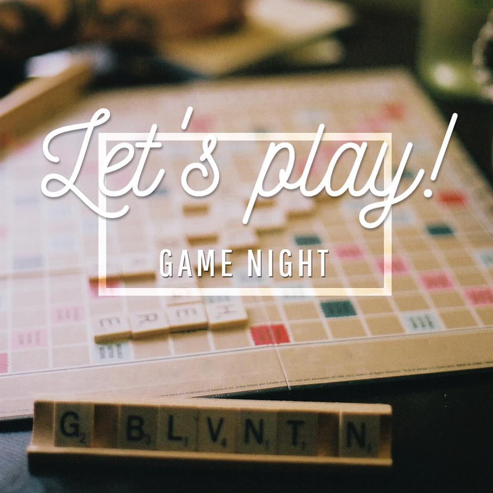 Word Nerd scrabble game night social media template