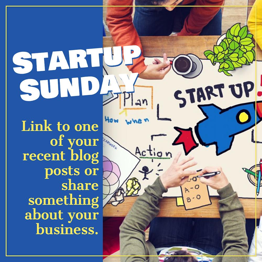 Startup Sunday social media post template