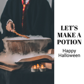 Let's make a potion Happy Halloween social media post template