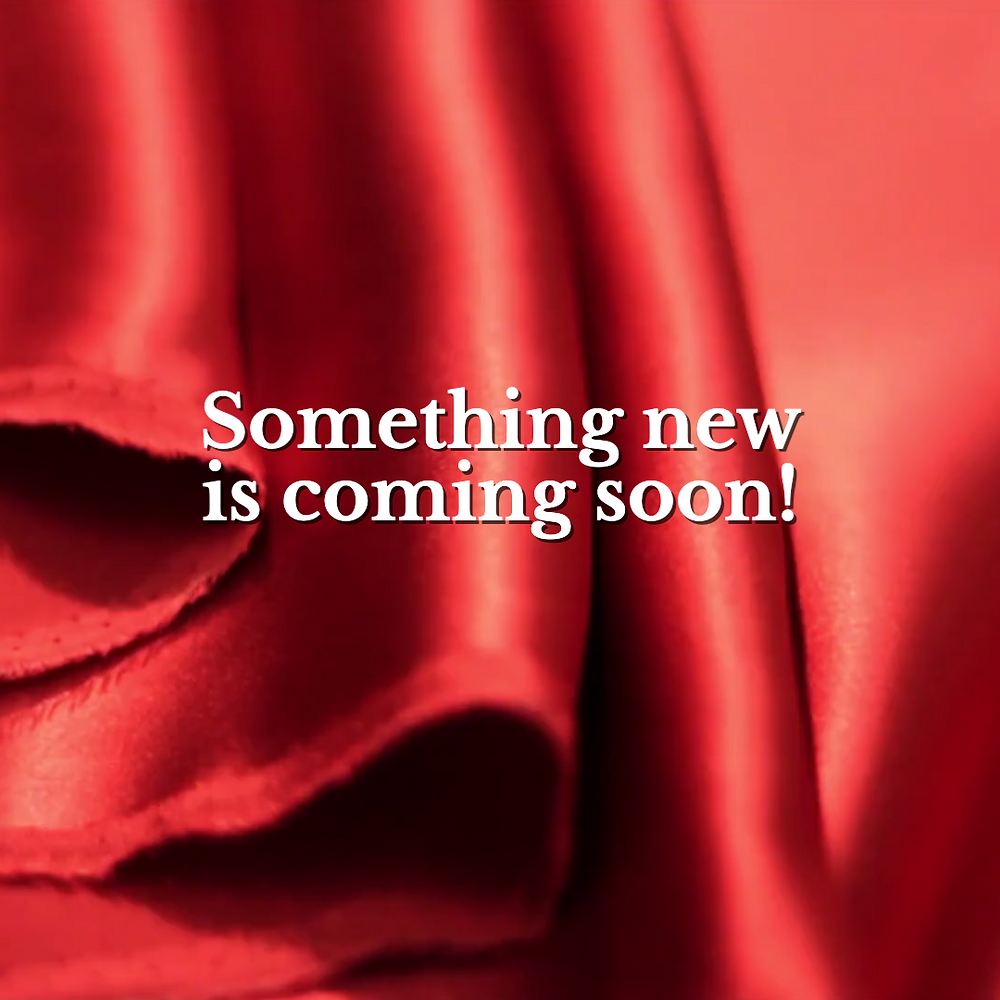 Something new social media post template for Instagram with red satin material