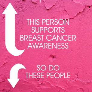 Arrows for engagement pink social media post for Facebook and Instagram for Breast Cancer Awareness Month
