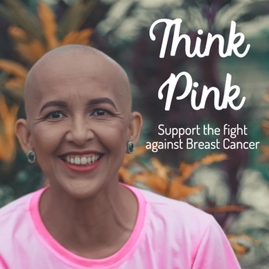 Woman with breast cancer bald support the fight against breast cancer social media post template